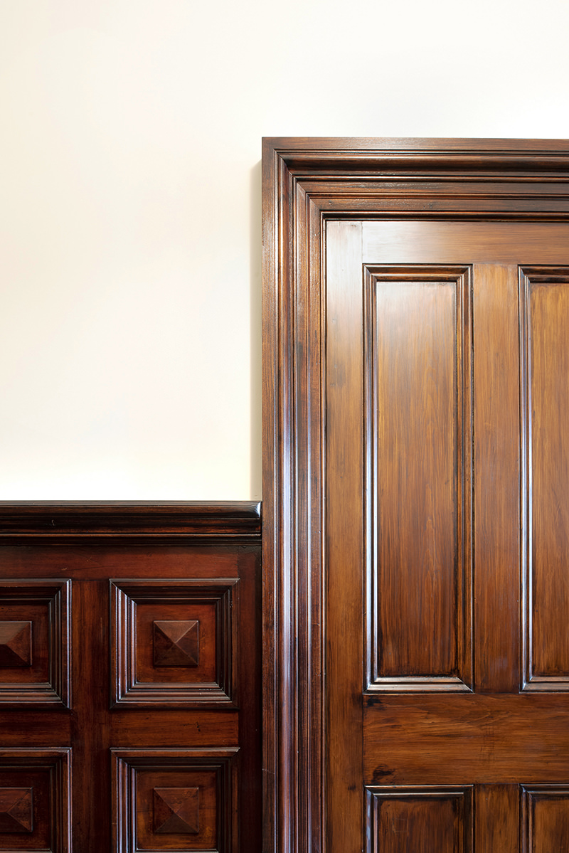 Heritage timber doors, architraves and panelling at Mosspennoch House
